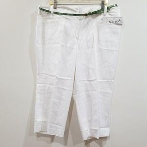 Atelier 18 woman white stretch capris Pants